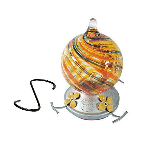 Best Home Produkte Kolibri Feeder, mundgeblasenes Glas, Konfetti, 3Tassen -