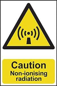 Attention rayonnements non ionisants–200x 300mm 1mm Panneau en PVC rigide.