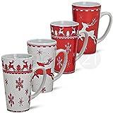 matches21tazze Jumbo Tazza 1PZ. Natale tazze in ceramica prodotto B * * PREZZO kracher * * rosso bianco 14cm/450ML