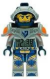 Despertador con luz infantil con figurita de Clay de LEGO Nexo Knights; azul/gris; plástico;...