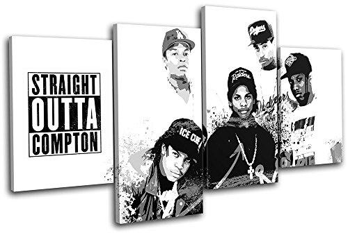 Bold Bloc Design - NWA Hip Hop Rap Graffiti Urban 120x68cm MULTI Boite de tirage d'Art toile encadree photo Wall Hanging - a la main dans le UK - encadre et pret a accrocher - Canvas Art P