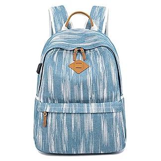 Artone Resistente Al Agua Mezclilla Gran Capacidad Mochila Casual 15″ Ordenador Portátil Colegio Daypack Azul