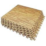 Umi. Essentials 2 'x 2'(60cm x 60cm ) Schiume per Piastrelle ad Incastro (Grano di Legno) (6 Pezzi Luce)