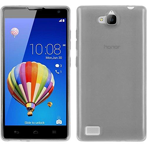 PhoneNatic Case für Huawei Honor 3C Hülle Silikon weiß, transparent + 2 Schutzfolien