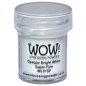 WOW! Embossing Powder Super Fine 15ml-Opaque Bright White
