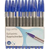 12 x Kugelschreiber blau mit Kappe 12-er Set