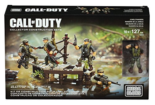 Mattel Mega Bloks DLC00 - Konstruktionsspielzeug, Call of Duty Jungle Troopers