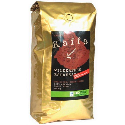Kaffa Bio Wildkaffee Espresso Bohne 1000 g