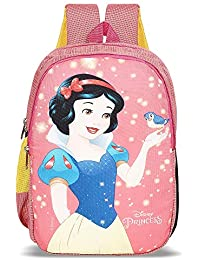 Priority Disney Snow White 20 litres Pink Polyester Kids School Bag | Casual Backpack for Girl's (25156)
