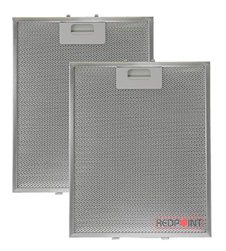 Kit 2 Stück Aluminium-Fettfilter Austauschfilter Dunstabzugshaube Für ELICA mm.260 x 320 x 9 mm