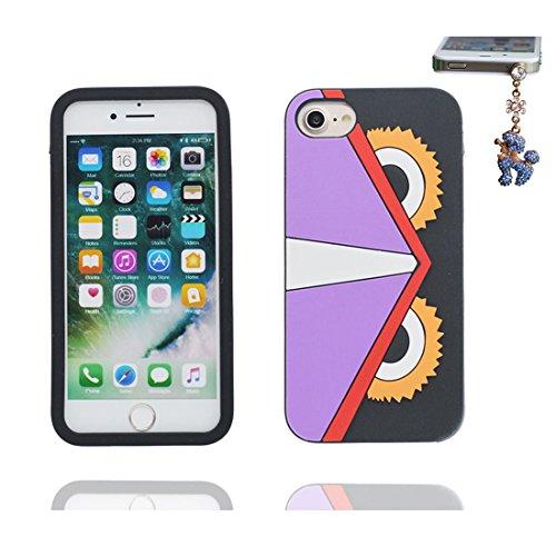 """iPhone 6 Coque, iPhone 6S Étui Cover pour iPhone 6s 4.7 """" [Cartoon 3D ours bear Cute] Gel TPU Shell iPhone 6 Case (4.7"""") Résistant à la poussière Scratch et Bouchon anti-poussière # 1"""