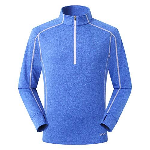 51j4gbg0hkL. SS500  - Eono Essentials Men's Lightweight High-Stretch Grid Fleece Top - Small