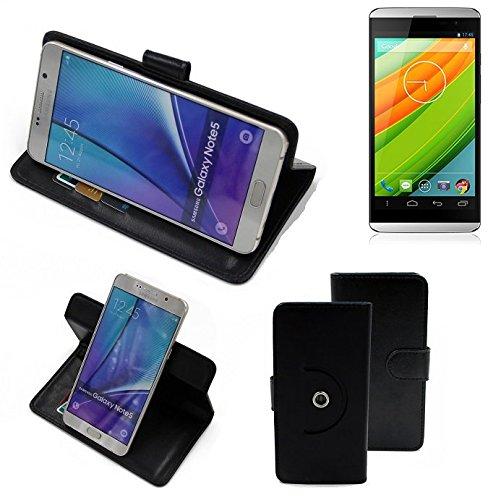K-S-Trade® Hülle Schutzhülle Case für Hisense HS-U980BE-2 Handyhülle Flipcase Smartphone Cover Handy Schutz Tasche Bookstyle Walletcase schwarz (1x)