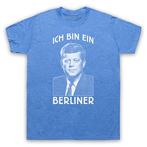 JFK Ich Bin Ein Berliner Herren T-Shirt Jahrgang Blau