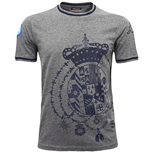 Kappa Herren Poloshirt Grau - Grey Dk Mel-Blue Mar