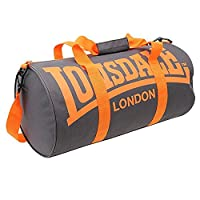 Lonsdale Barrel Bag[Charcoal/Orange]
