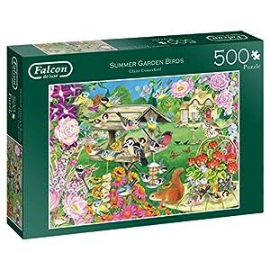 Falcon de Luxe Summer Garden Birds 500 pcs Puzzle - Rompecabezas (Puzzle Rompecabezas, Flora & Fauna, Niños y Adultos, Niño/niña, 12 año(s), Interior)