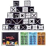 Spieland 24Pcs Labyrinth Maze Box Geschenk +24 Pcs 3D Metall Puzzle Knobelspiele Dekompressions Spielzeug Adventskalender Füllung für Geburtstag Geldlabyrinth für Erwachsene Kinder