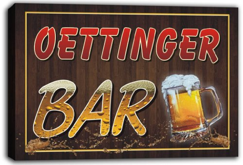 scw3-046734-oettinger-name-home-bar-pub-beer-mugs-stretched-canvas-print-sign