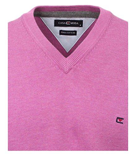 CASAMODA Herren Pullunder Comfort Fit 004160/80 Rosarot - uni (98)