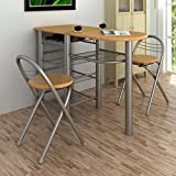 Anself Table and Chairs Set Kitchen Breakfast Bar Set