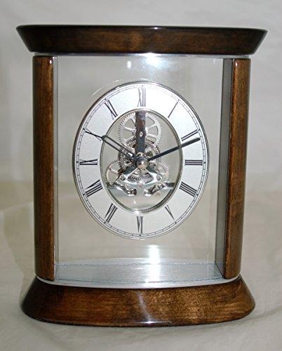 IMC Kaminuhr Tischuhr Goldbraun/Silber - dekorative IMC Atmos