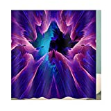 AieniD Badezimmer Deko Braun Lila Aurora Lila Bad Vorhang Size:180X200CM