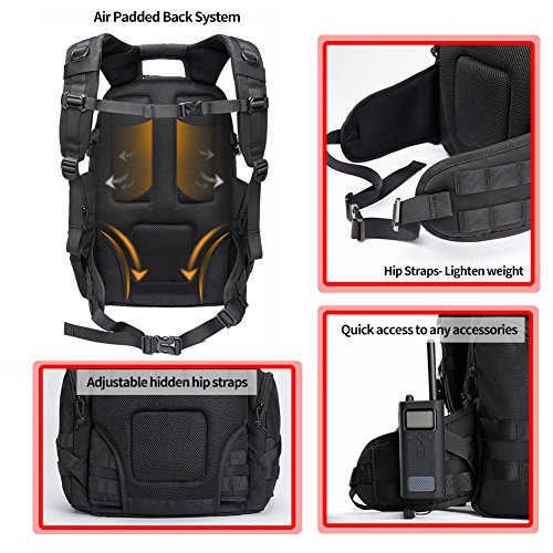51j4jnDdiOL. SS500  - KALIDI 35L Military Tactical Backpack Rucksack with USB Charging Port for Outdoor Hiking Camping Trekking