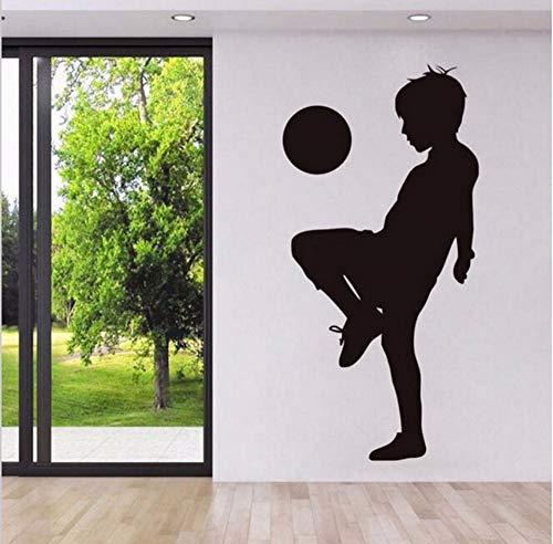 Junge Spielen FußballWandaufkleberFußball Kinder Wandtattoos Für Baby Kindergarten Schlafzimmer Sport Für Wohnzimmer Kunstwand ()