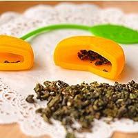 Generic filter006 Lovely lemon tea Infuser ball filter strainers creative edible silica gel tea balls spoon Free Shipping
