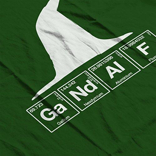Gandalf Chemical Symbols Lord Of The Rings Women's Sweatshirt Bottle Green