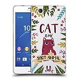 Head Case Designs Katze Seelen Tiere Abbildungen Soft Gel Hülle für Sony Xperia Z3 Compact / D5803