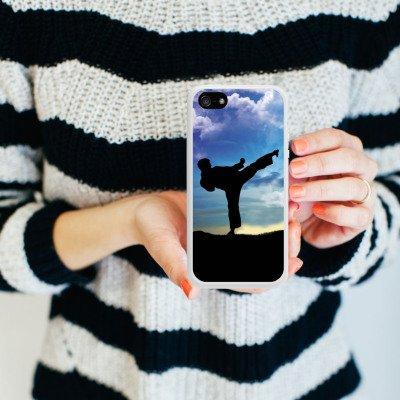 Apple iPhone 4 Housse Étui Silicone Coque Protection Karaté Sport de combat Entraînement Housse en silicone blanc