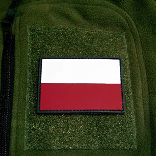Copytec 3D Rubber Patch Polen Polska Pole Streitkräfte Armee Fahne Flagge 8x5cm #16262 -