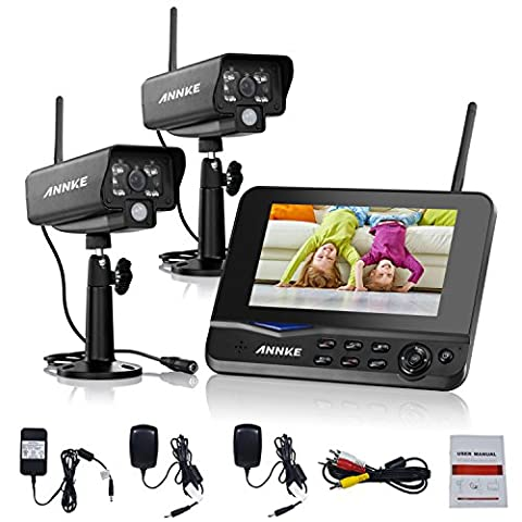 Annke Digital Wireless 4CH CCTV DVR Day Night Security Camera Surveillance System with 7