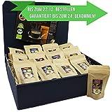 C&T Kaffee-Geschenkset Bio/Fair 13 Sorten á 25 g (Ganze Bohnen) 2019 mit 24 Biologischen, Raritäten- und Fair gehandelten Kaffees plus Überraschung   Weihnachts-geschenk   Geschenkbox