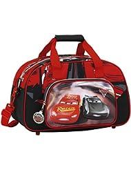 Safta Cars 3 Bolsa de Deporte Infantil, 40 cm, Rojo / Negro