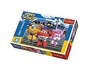 Puzzle Super Wings Przyjaciele przed hangarem 30