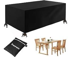 Farruto Housse de Meubles, Housse Salon de Jardin 420D Oxford Housse de Protection étanche Bâche Anti-UV pour Tables de Jardi