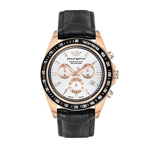 PHILIP WATCH Reloj Cronógrafo para Hombre de Cuarzo con Correa en Cuero R8271607002