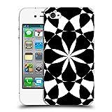 Head Case Designs Offizielle PLdesign Schwarz Und Weiss Geometrisch Ruckseite Hülle für iPhone 4 / iPhone 4S
