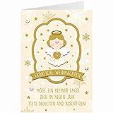 Knopfkarte für Weihnachtsgrüße - X-mas - Schutzengel - 13