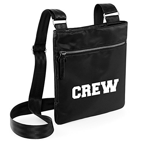 Crew Motiv auf Umhängetasche, Bodybag, Tasche, stylisches Modeaccessoire, Unisex, viele Sprüche und Designs (Crew White Collection)