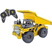 Camion benne fonctionnel Top Race 6 Channel, camion à benne télécommandé RC avec éclairages et sons 2.4Ghz (TR-112G)