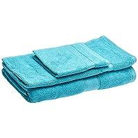 Panache Exports Utopia Towel Set, Aqua, 70 cm x 140 cm, PEUTOSET01, 3 Pieces