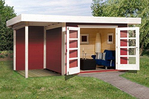 Weka 126.3024.43101 Designhaus 126 A Gr.2, schwedenrot, 28 mm, DT, Anbau 150 cm, ohne RW...