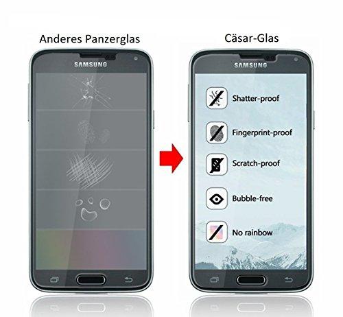 [2 Stück] CÄSAR-GLAS Panzerglas Schutzglas für Samsung Galaxy S5 Mini, Anti-Kratzen, Anti-Öl, Anti-Bläschen, 9H Echt Glas Panzerfolie Schutzfoliee