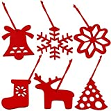 Baumbehang für Weihnachten Filz Rot Set von 6, Light Up Your Home von Urlaub-Styling