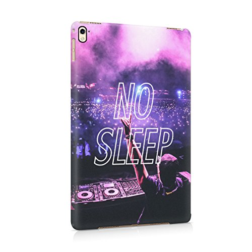 No Sleep Rave Queen DJ Neon Festival EDM Rattle Groovy Dünne Rückschale aus Hartplastik für iPad Pro 9.7 Tablet Hülle Schutzhülle Slim Fit Case Cover (Groovy Party Supplies)