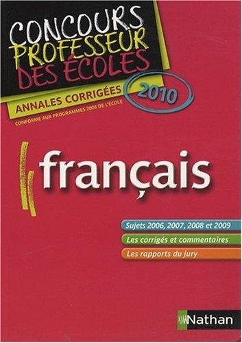 Français : Annales corrigées